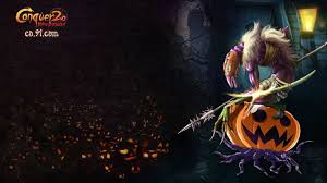 halloween background 1366x768 wallpapers game info conquer online official site