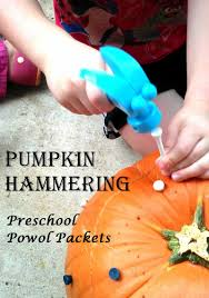 pumpkin hammering preschool powol packets