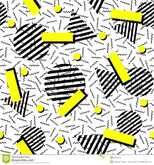 retro fashion 80s seamless pattern background stock vector image
