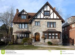 suburban tudor style house stock photo image 4836890