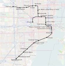 Sf Metro Map by Metrorail Miami U2014 Map Lines Route Hours Tickets