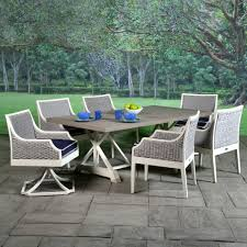 Wicker Patio Mooring Cushioned Wicker Patio Dining Set Libby Langdon Patio Set