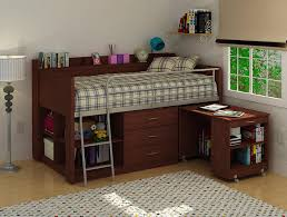 Home Interior Picture Frames by Twin Loft Bed With Desk And Storage Brown Wooden Laminated White