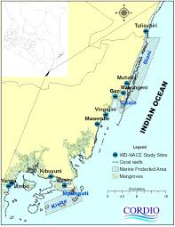 Map Of Kenya Africa by Wd Nace Study Sites On The South Kenya Coast Weadapt