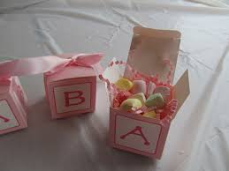 pink abc baby blocks favors abc blocks baby shower accessories
