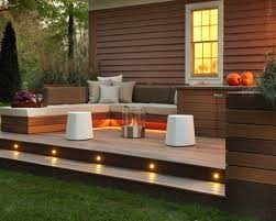 Landscaping Ideas For Backyards by Landscaping And Outdoor Building Great Small Backyard Deck