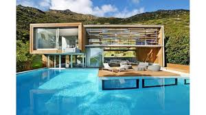 South African House Building Plans Cliff View Modern Spa House In Cape Town South Africa By