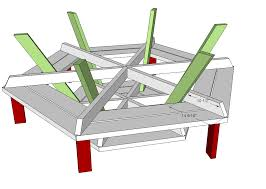 Building Plans For Picnic Table Bench by Ana White Hexagon Picnic Table Diy Projects