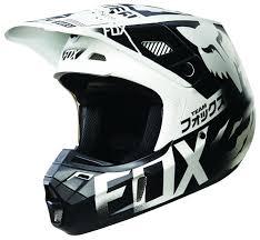 white motocross helmets fox racing v2 union helmet cycle gear