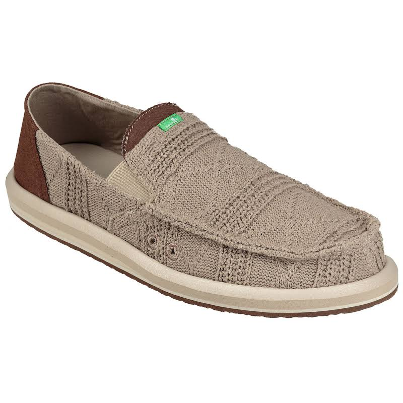 Sanuk Pick Pocket Knit Shoes Khaki- Mens