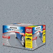 How Many Square Feet Is A 1 Car Garage Rust Oleum Epoxyshield 2 Gal Gray 2 Part High Gloss Epoxy Garage