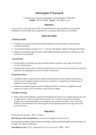 writing an objective on a resume example skills based cv
