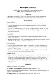 Sample Of A Resume Example Skills Based Cv