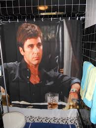 Scarface Home Decor My Inner Gangster Would Love A Scarface Shower Curtain Decor