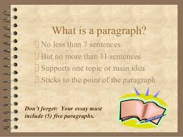 How to write a   paragraph essay