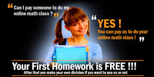 PAY SOMEONE TO DO ONLINE MATH CLASS