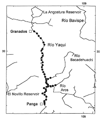 Sierra Madre Occidental Map Gallo J P 1996 Distribution Of The Neotropical River Otter