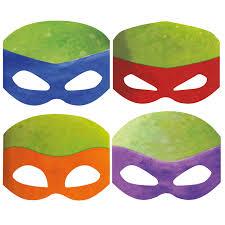 nickelodeon teenage mutant ninja turtles paper masks 8 kids