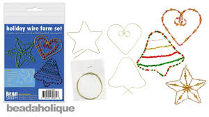 how to use the beadsmith holiday wire form set youtube