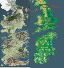 Map Of Ireland And England No Spoilers Westeros Is England And Ireland I U0027ve Been Blind
