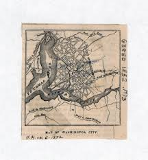 Washington Dc Usa Map by Large Old Map Of Washington City 1852 Washington D C Usa