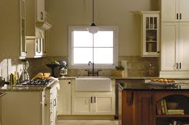 shaker painted cabinets kitchen update ideas photo gallery of remodeled kitchen features cliqstudios rockford painted linen cabinets with mission mullion glass doors