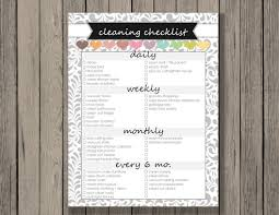 Donate Kitchen Cabinets Cleaning Checklist Printable Daily Weekly Monthly And