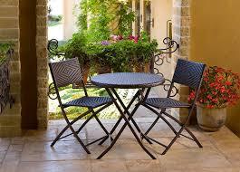 Polyethylene Patio Furniture by Amazon Com Rst Brands Bistro Patio Furniture 3 Piece Outdoor