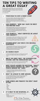 With that in mind  here     s an infographic with ten tips to write an essay without Pinterest