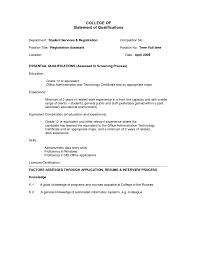 Cover Letter Template For Sample Qualifications In Resume     Wareout Com