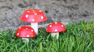Outdoor Mushroom Lights by Mushroom Decor Diy Youtube