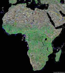 Blank Physical Map Of Russia by Africa Map And Satellite Image