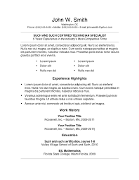 Resume For First Job  example resume  first job sample resume