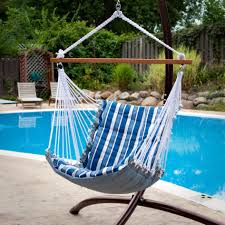 Macrame Hammock Chair Brazilian Hanging Hammock Chair With Fringe 100pct Cotton Cloth