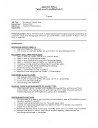 Example Objectives For Resumes by Education Resume Example Qualifications Resume Substitute Teacher