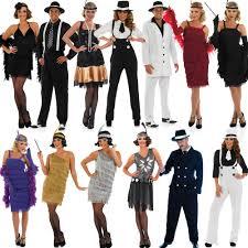 1920 Halloween Costumes 20s Fancy Dress Mens Ladies 1920s Gangster Costume Womens