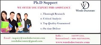 PhD Thesis Writing  Dissertation Writing  Research Paper Writing
