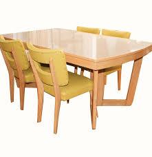 Mid Century Modern Dining Room Tables Mid Century Modern Blonde Dining Table And Chairs By Meier