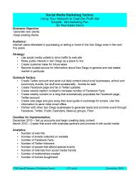 Plan Social Media by Social Media Marketing Plan Sample Professional Templates