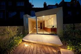 elegant modern design modern terraces on homes with warm lamp and