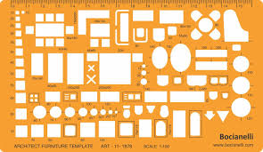 Architecture Symbols Floor Plan 1 100 Scale Architectural Drawing Template Stencil Architect