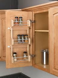 Best Spice Racks For Kitchen Cabinets Amazon Com Rev A Shelf 4sr 15 Small Cabinet Door Mount Wood