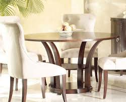 dining room white fabric upholstered dining chairs and round