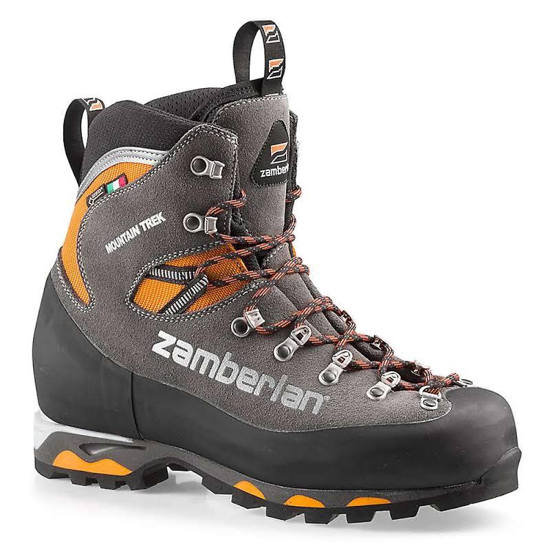 Zamberlan Mountain Trek GTX RR Mountaineering Boots Graphite/Orange Medium 12 2092GOM-Medium-12