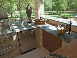 outdoor kitchen design u shaped stone outdoor island natural stone