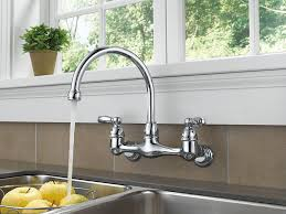 Removing An Old Kitchen Faucet by Peerless P299305lf Choice Two Handle Wall Mounted Kitchen Faucet