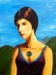 Pastel Paintings and Drawings by Sean Erik O'Connor. - IrishGirl-Acrylic-SeanErikOConnor