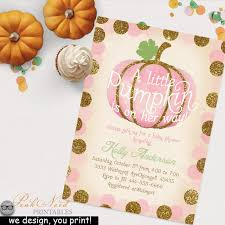 pink little pumpkin is on her way fall baby shower vintage