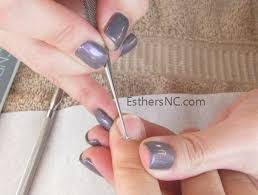 how to apply shellac nail polish esther u0027s nail corner