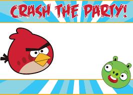 Free Printable Birthday Invitation Cards With Photo Birthday Invites Stunning Angry Birds Birthday Invitations Design